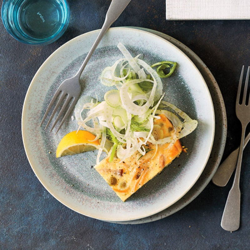 Photo of Parmesan, pasta, and pea  frittata by WW
