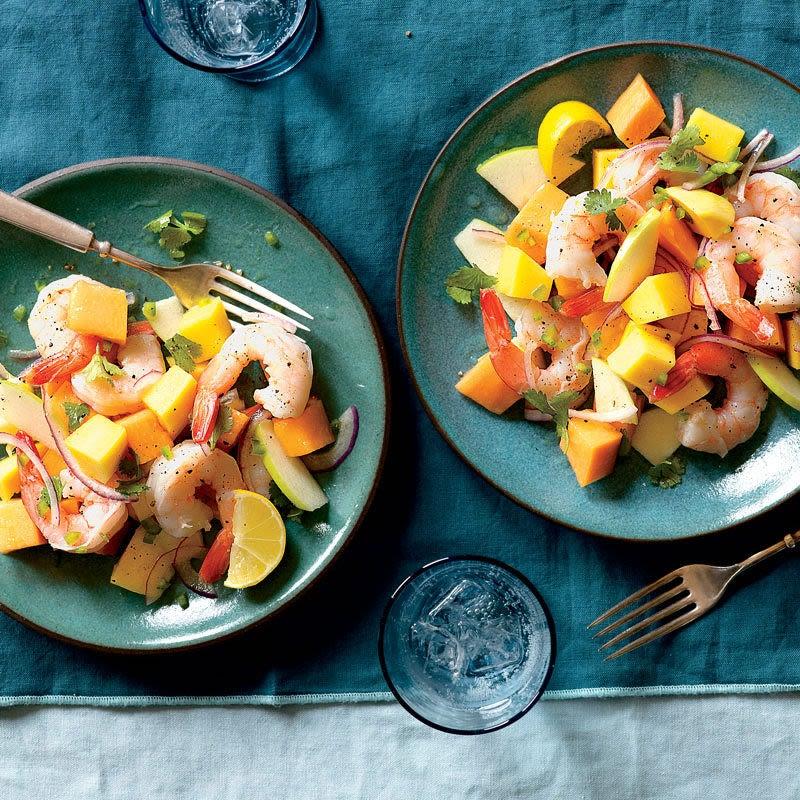 Photo de Salade de crevettes au fenouil, à l'oignon rouge et à l'orange par WW