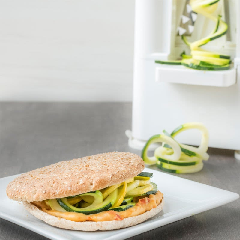 Photo of Spiralized squash & hummus sandwich by WW