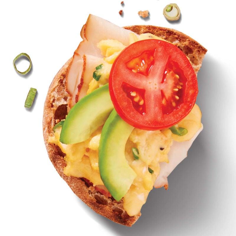 Photo of Egg, turkey, avocado and tomato sandwiches by WW