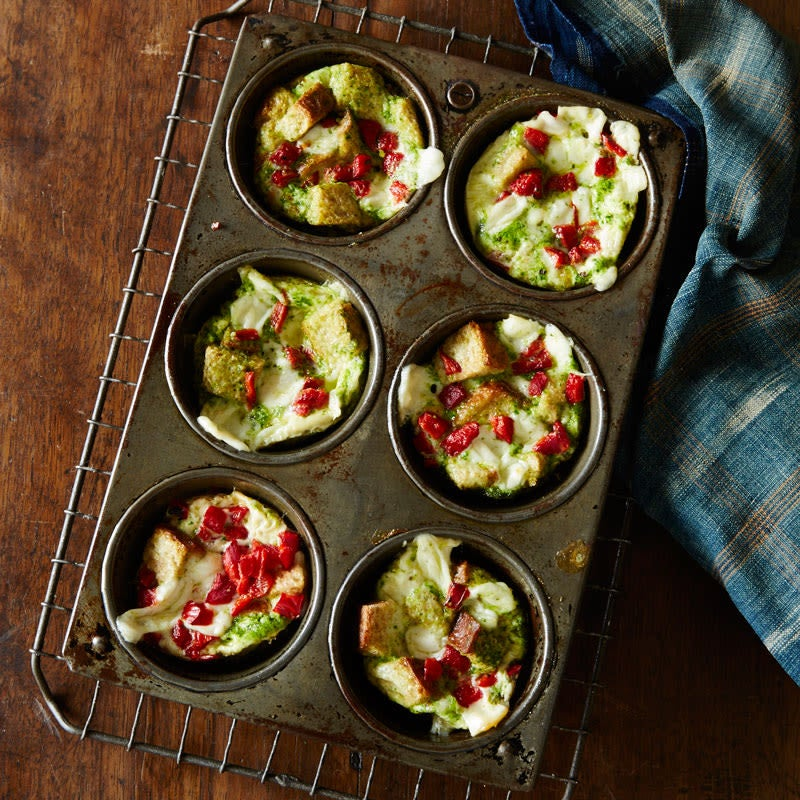 Photo of Roasted pepper and pesto breakfast stratas by WW