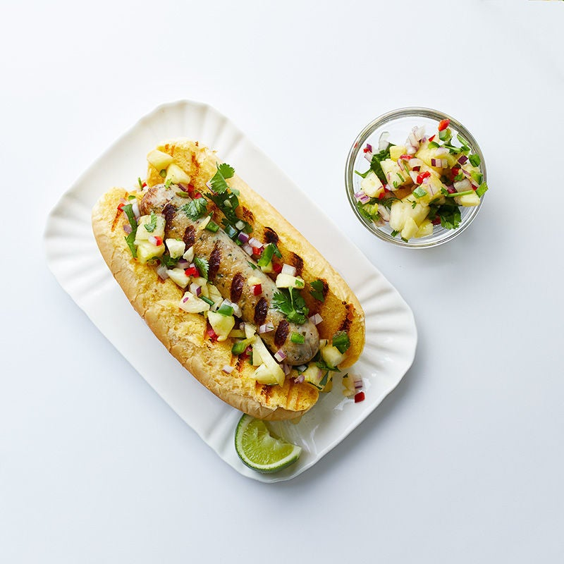 Photo of Grilled chicken sausage with pineapple salsa by WW