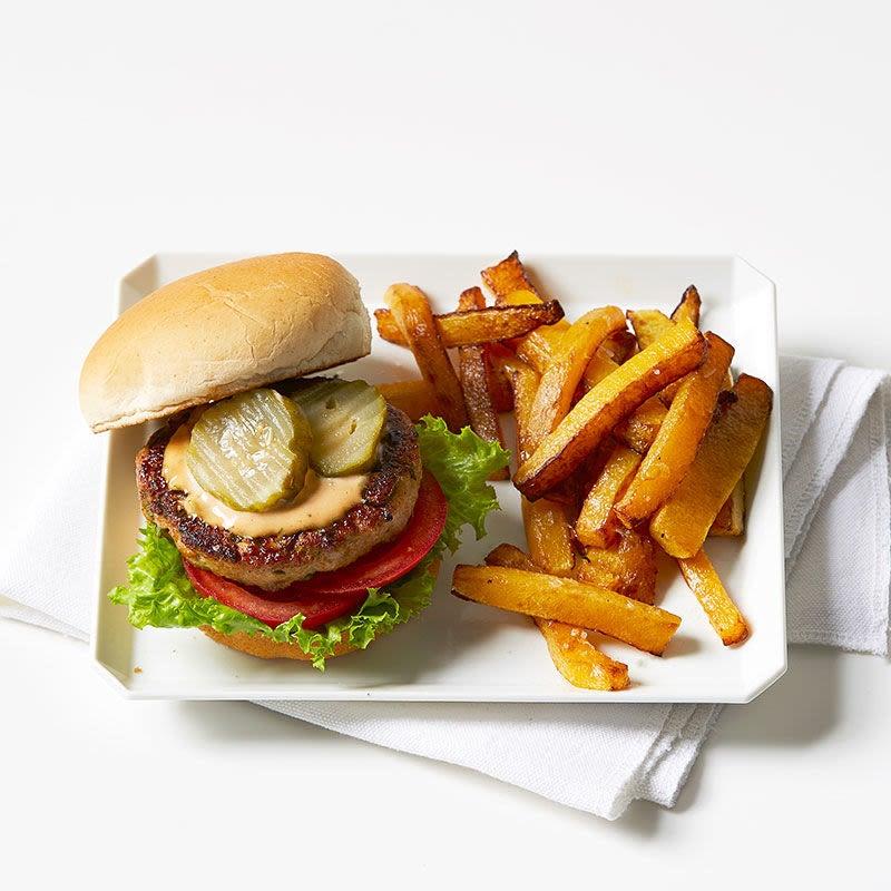 Photo de Burger à la dinde avec frites de courge par WW