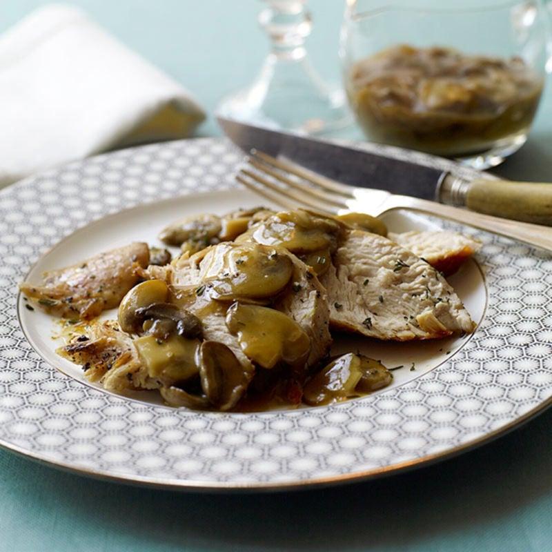 Photo of Roasted turkey with mushroom gravy by WW