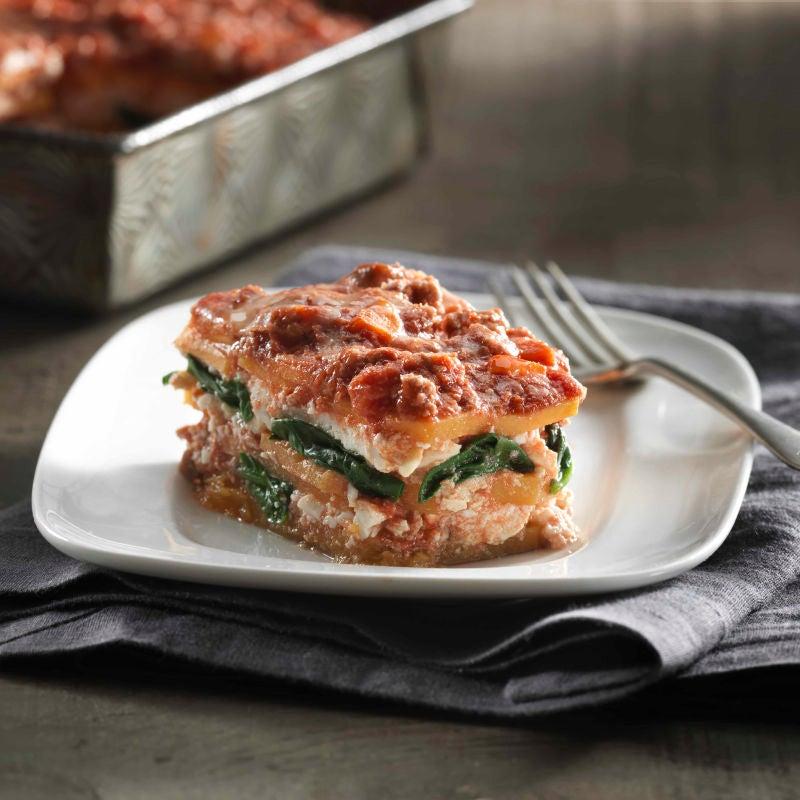 Photo de Lasagne à la courge musquée et à la sauce Ragu à la dinde par WW