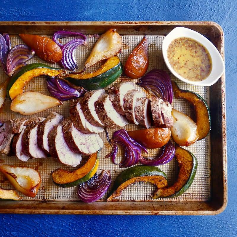 Photo of Autumn pork sheet pan dinner by WW