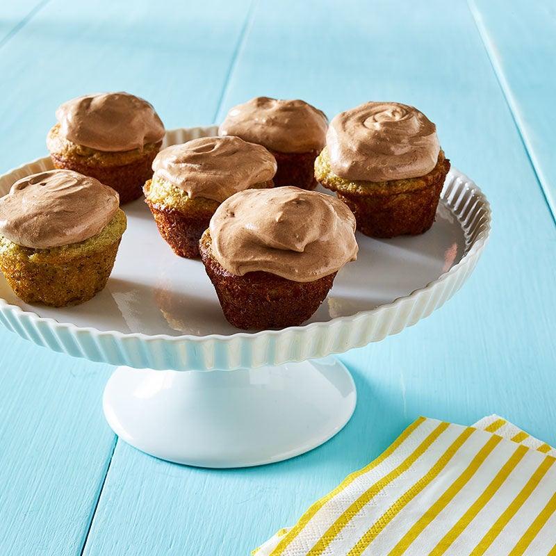 Photo de Mini-gâteaux aux bananes avec glaçage au Nutella par WW