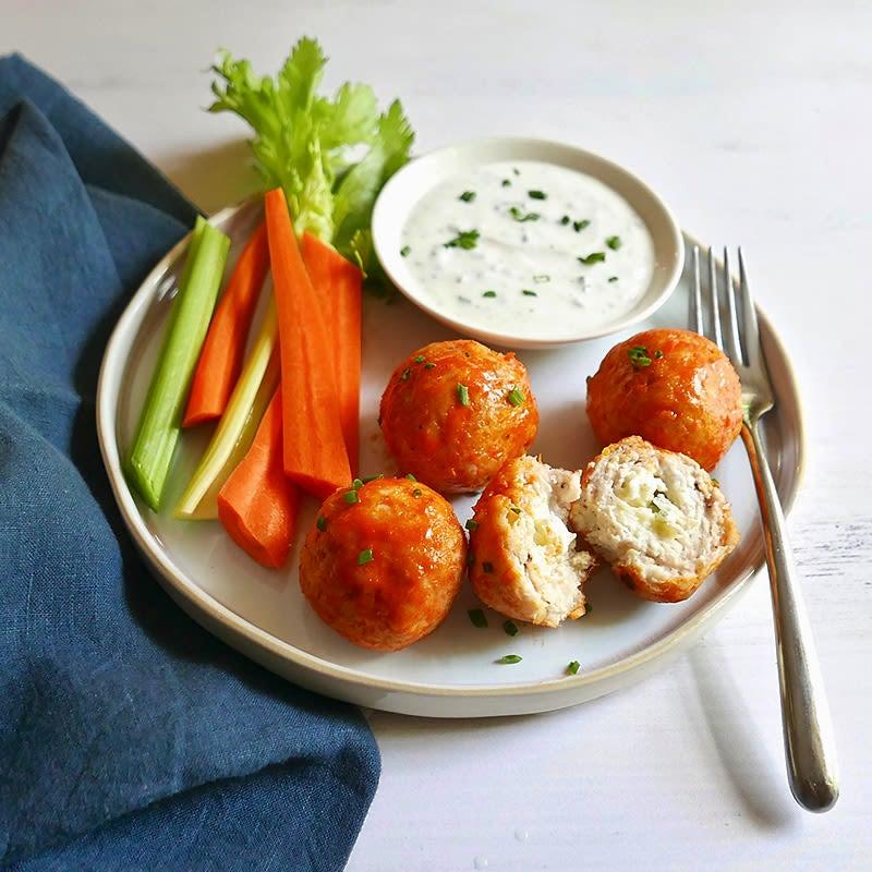 Photo of Blue cheese–stuffed buffalo meatballs by WW