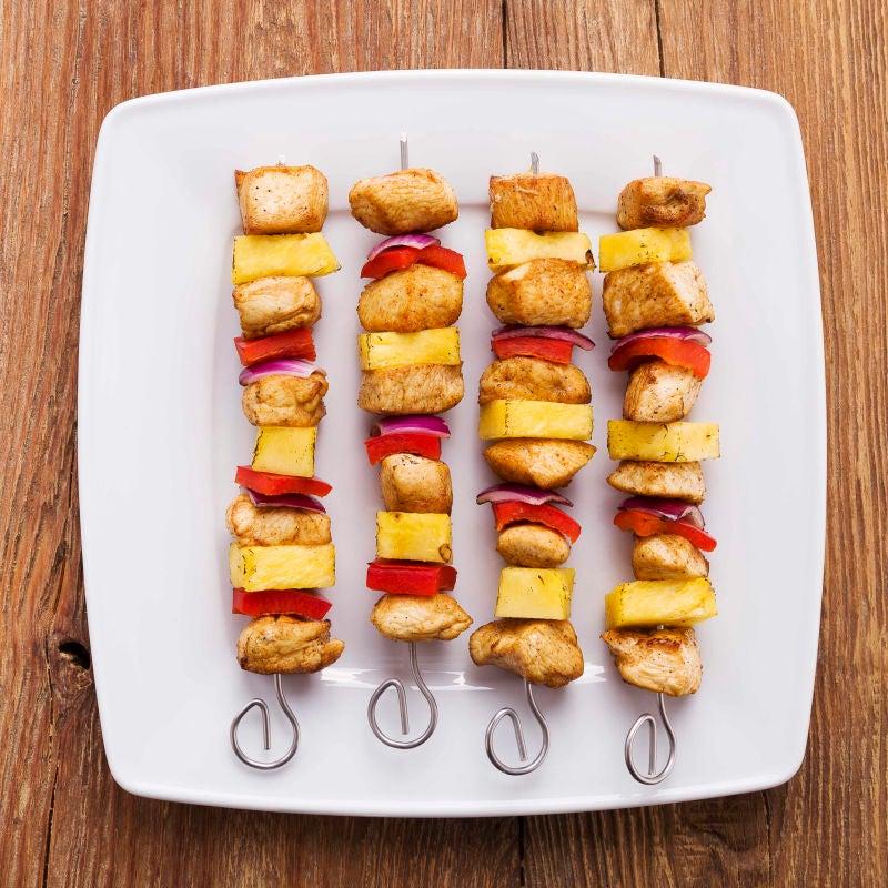 Photo of Smoky curry-glazed chicken skewers by WW