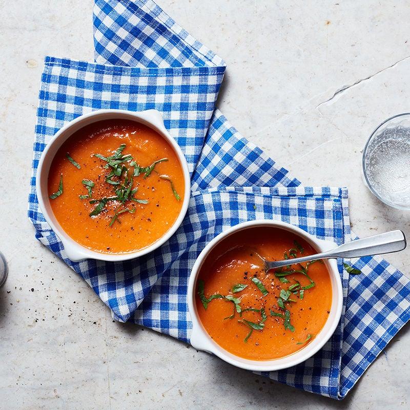 Photo de Soupe aux poivrons rouges rôtis et aux poires par WW