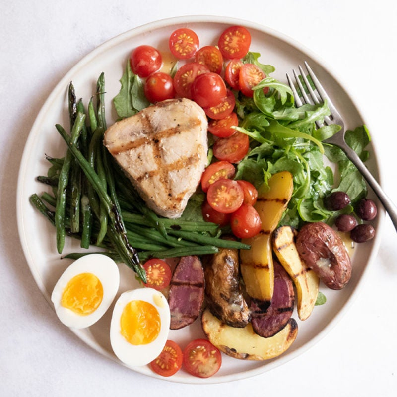 Photo de Salade niçoise à l'espadon grillé par WW