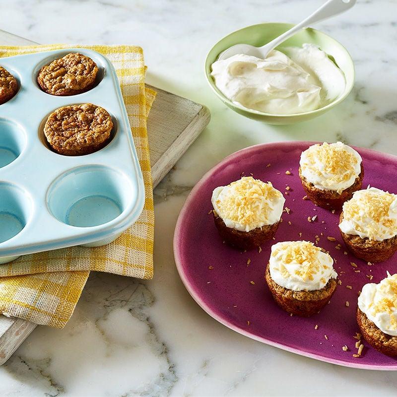 Photo de Mini-gâteaux aux carottes avec glaçage au fromage à la crème par WW