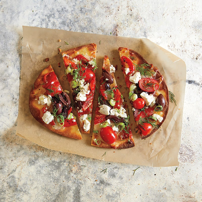 Photo of Thin crust Greek pizza by WW