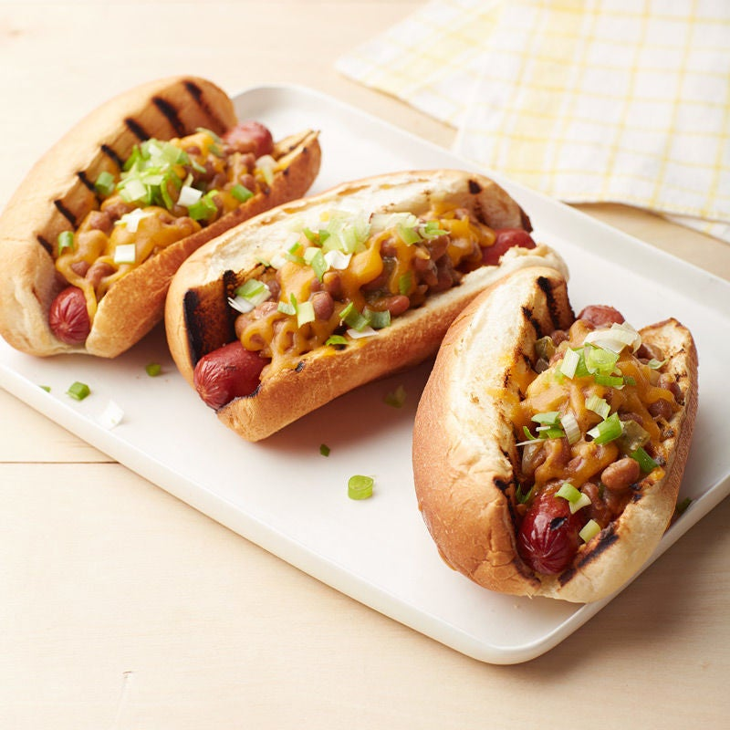 Photo de Hot dogs garnis de haricots et de fromage par WW