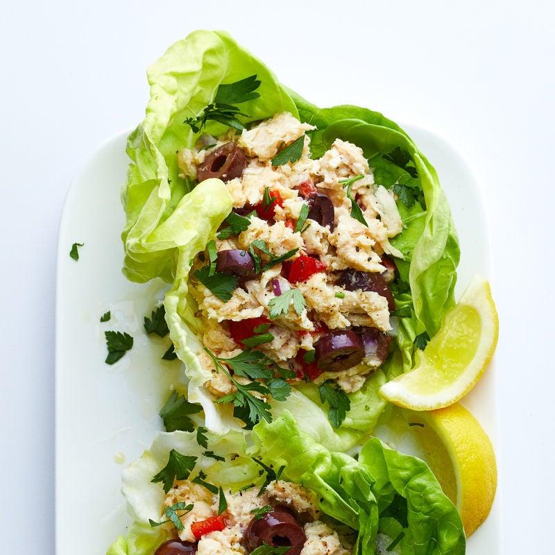Photo de Roulés de laitue à la salade de thon méditerranéenne par WW