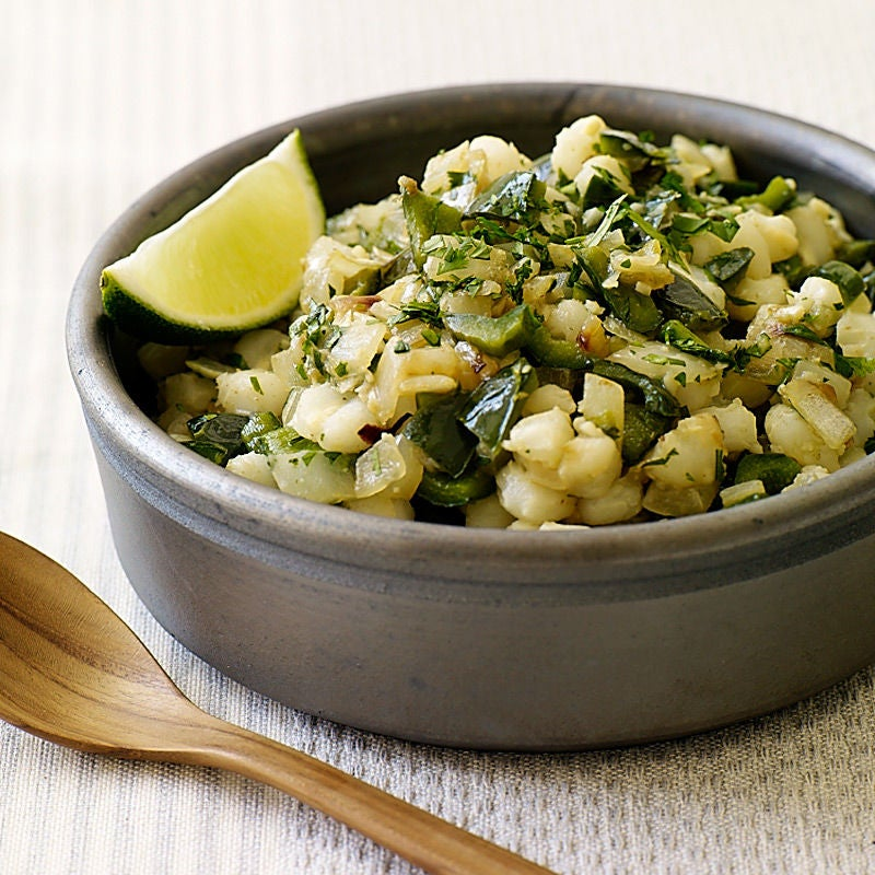 Photo of Hominy and Poblano Pepper Sauté by WW