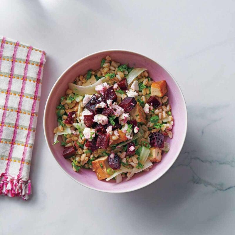 Photo de Salade d'épeautre et betteraves au fenouil et au feta par WW