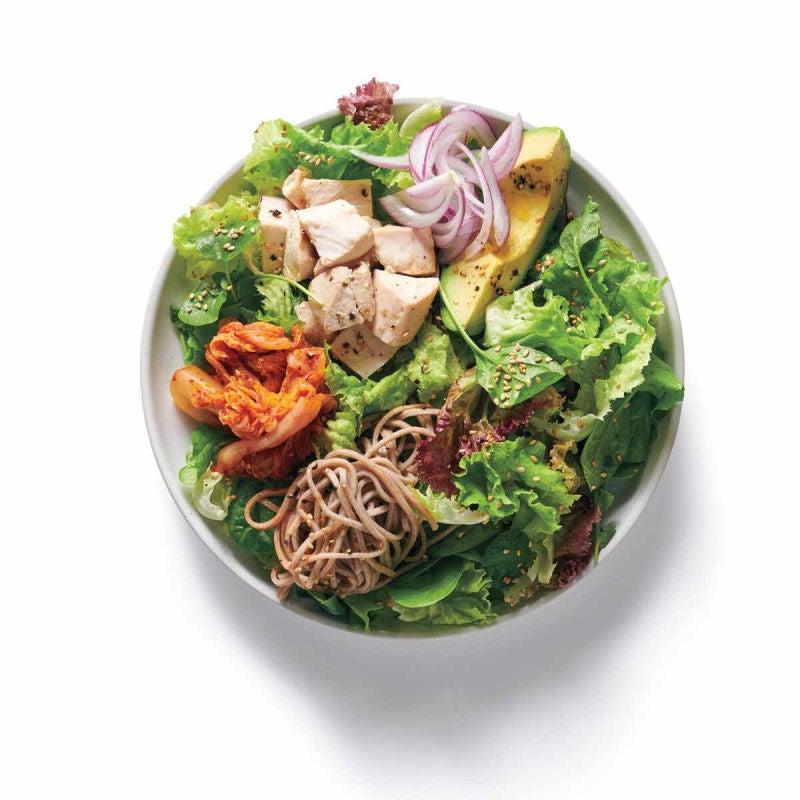 Photo de Garnitures au poulet asiatique et nouilles soba (pour salade) par WW