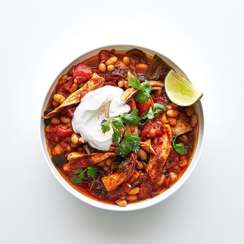 Photo de Chili à la dinde et au piment poblano par WW