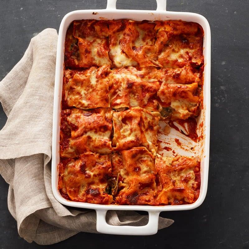 Photo de Lasagne aux légumes aux champignons cremini et aux épinards par WW