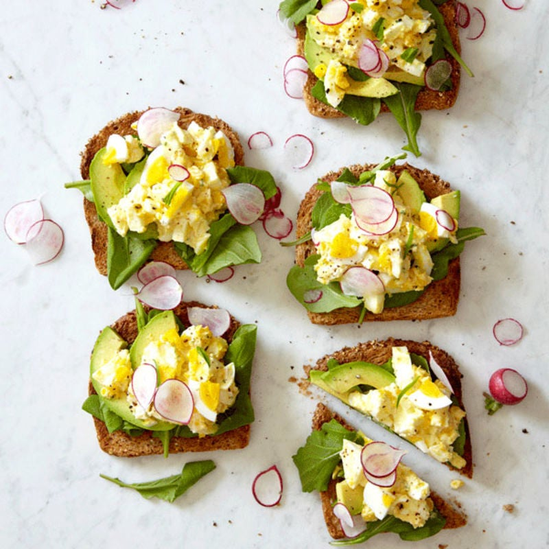 Photo of Open-face egg salad sandwiches by WW