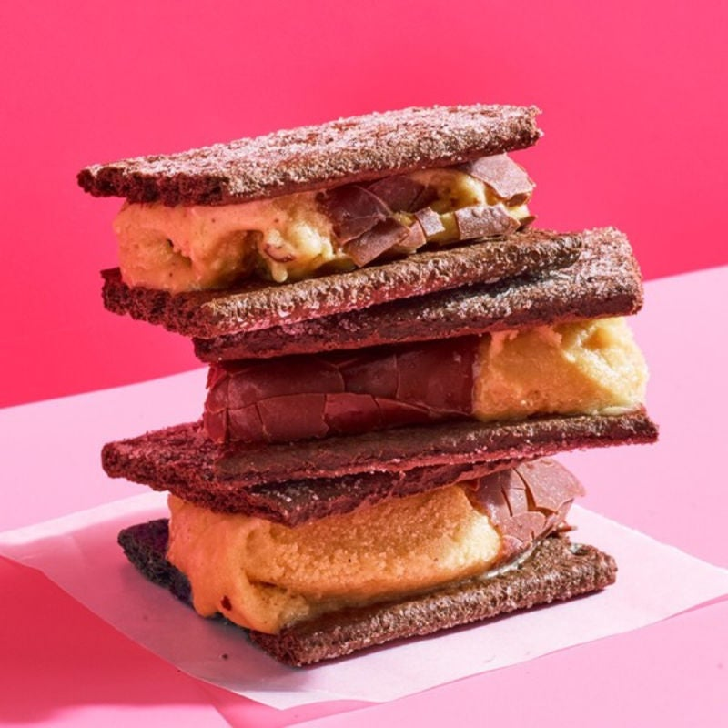 Photo de Biscuits-sandwichs deux tons à la crème glacée par WW