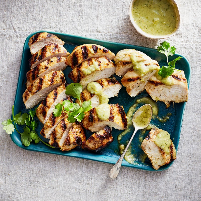 Photo of Grilled Chicken with Grilled Tomatillo Salsa by WW
