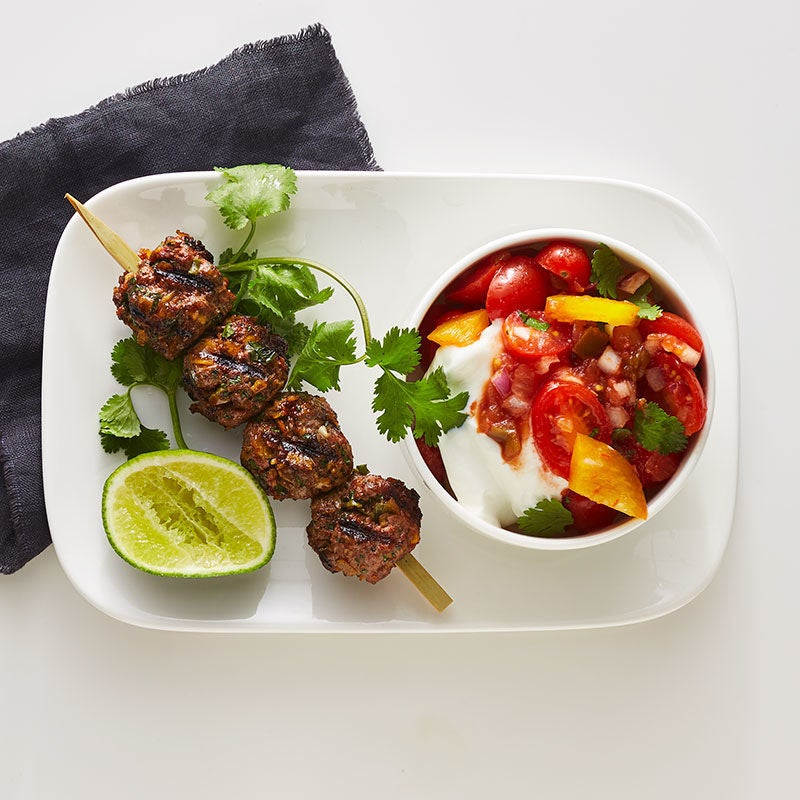 Photo of Grilled Mexican Meatball Skewer with Chunky Salsa by WW
