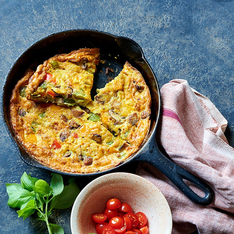 Photo of Mushroom and Pepper Frittata with Tomato and Basil by WW