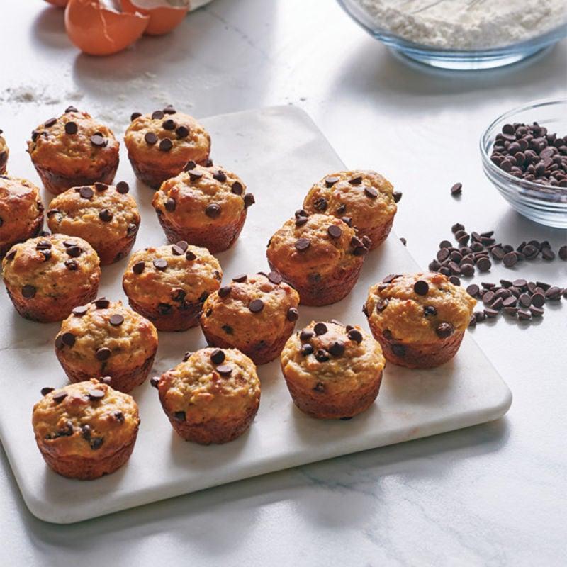 Photo de Mini-muffins aux bananes et aux pépites de chocolat par WW