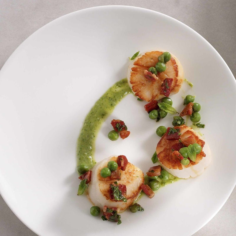 Photo of Scallops with Green Goddess Pea Puree by WW