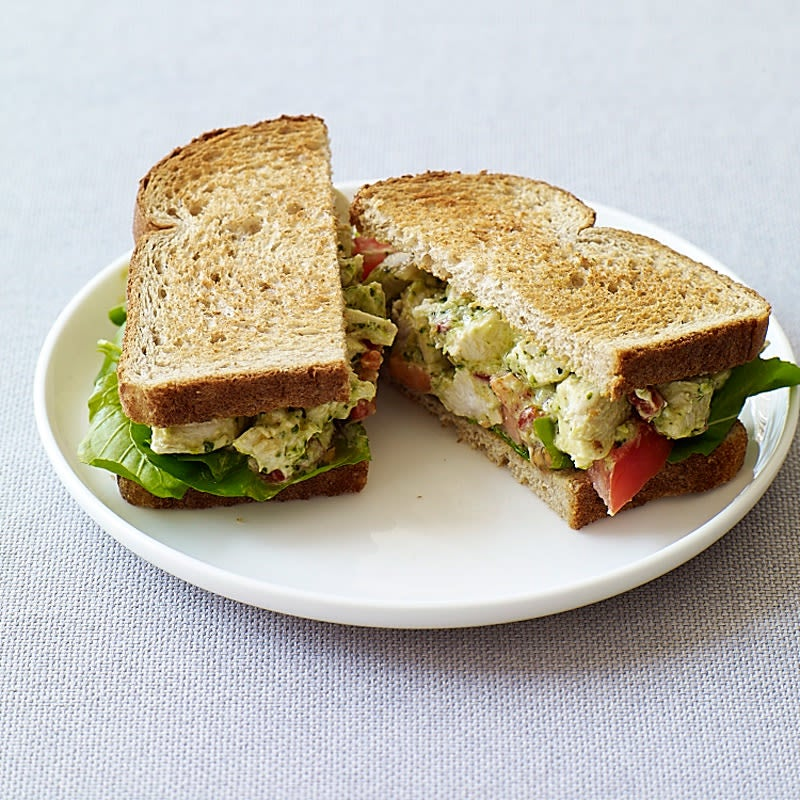 Photo of Pesto chicken salad sandwiches by WW