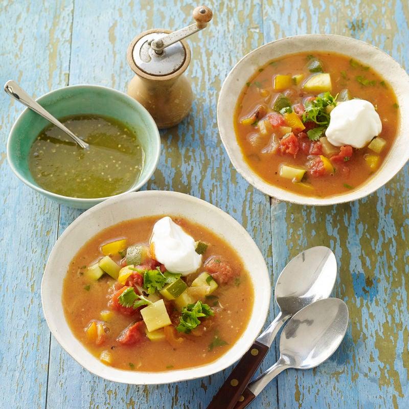 Photo de Soupe mexicaine aux légumes avec salsa verde par WW
