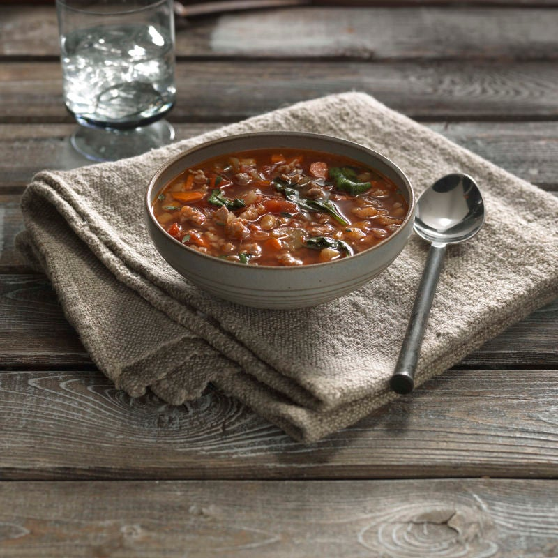 Photo of Spicy Turkey Sausage Lentil Soup by WW