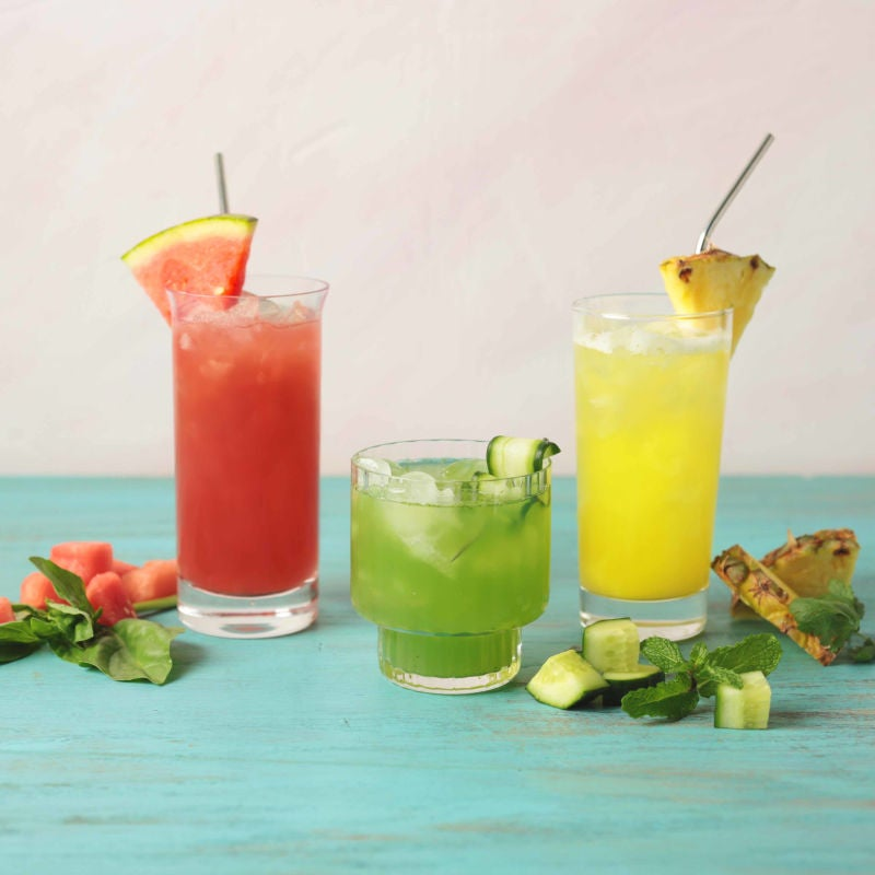 Photo of Aguas frescas three ways - pineapple cilantro by WW