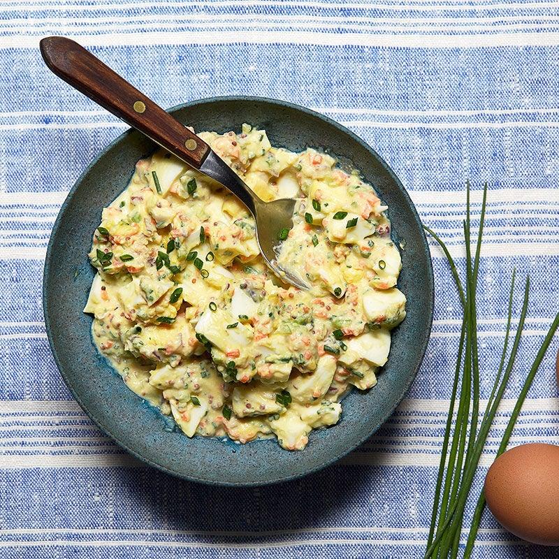 Photo de Salade aux œufs sans mayonnaise par WW