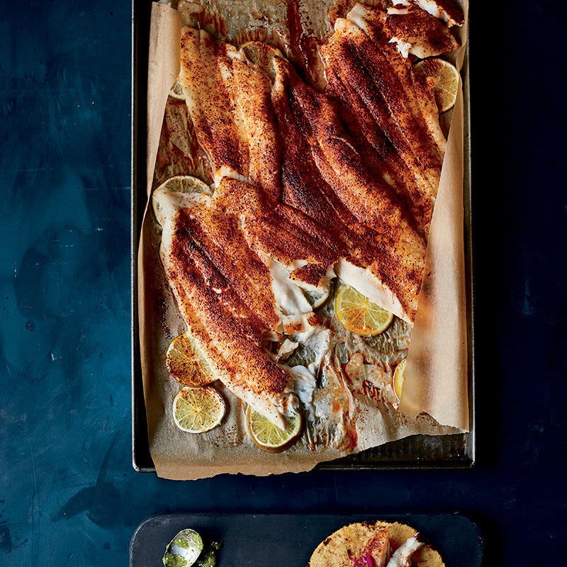 Photo of Roasted Flounder with Chile and Lime (Roasted Fish Taco Filling) by WW