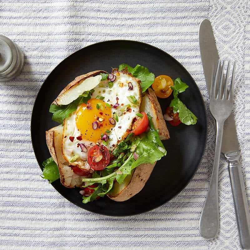 Photo of Arugula salad and egg baked potatoes by WW