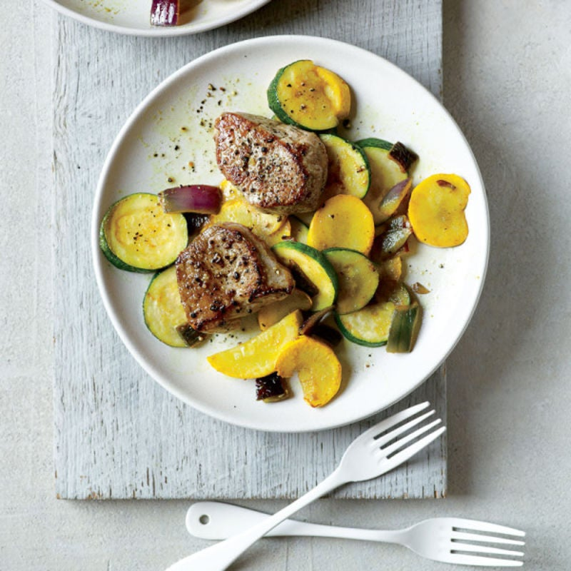 Photo of Pork medallions with Indian-spiced squash saute by WW