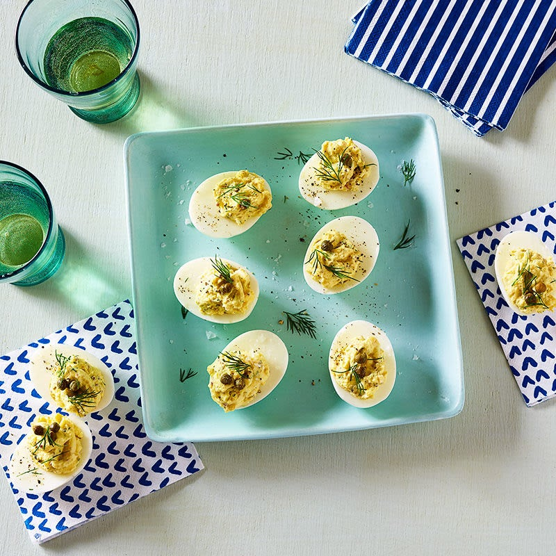 Photo of Deviled eggs with capers and dill by WW