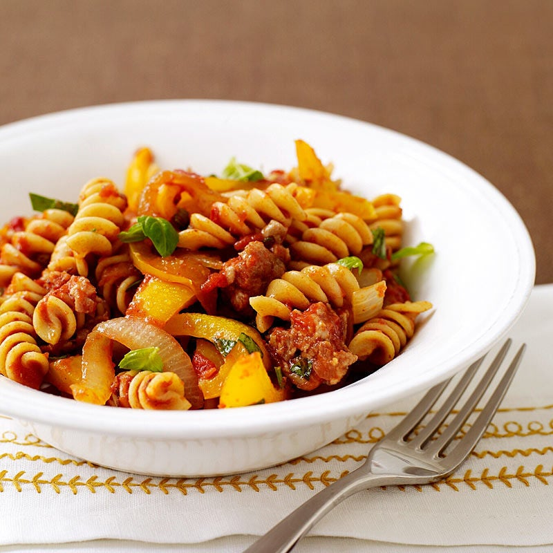 Photo of Italian turkey sausage and pepper pasta by WW