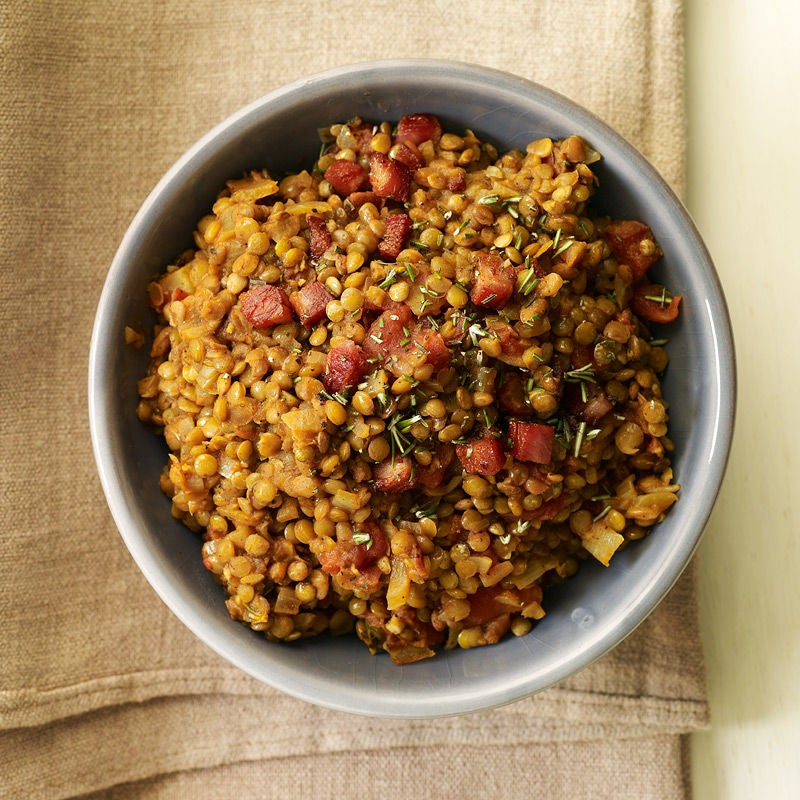 Photo of Warm lentil salad with pancetta, tomato and rosemary by WW