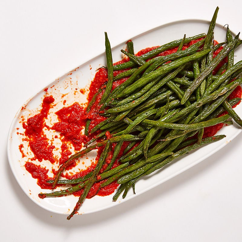 Photo of Roasted Green Beans with Red Pepper Sauce by WW