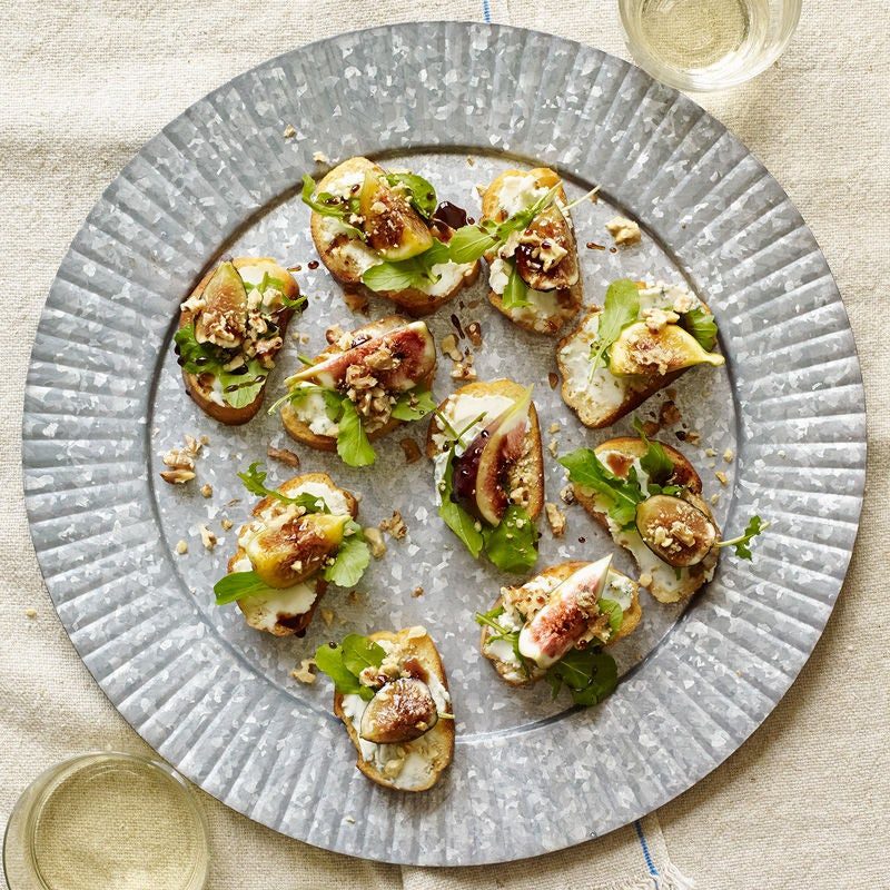 Photo of Fig and blue cheese crostini with balsamic-honey drizzle by WW