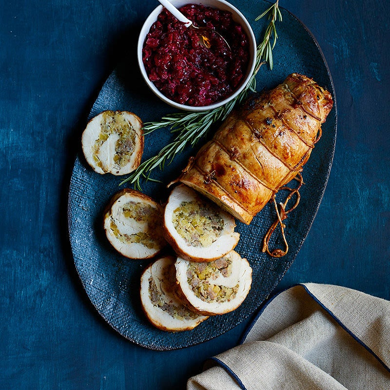 Photo of Turkey Breast Roulade with Apple, Corn Bread and Sausage by WW