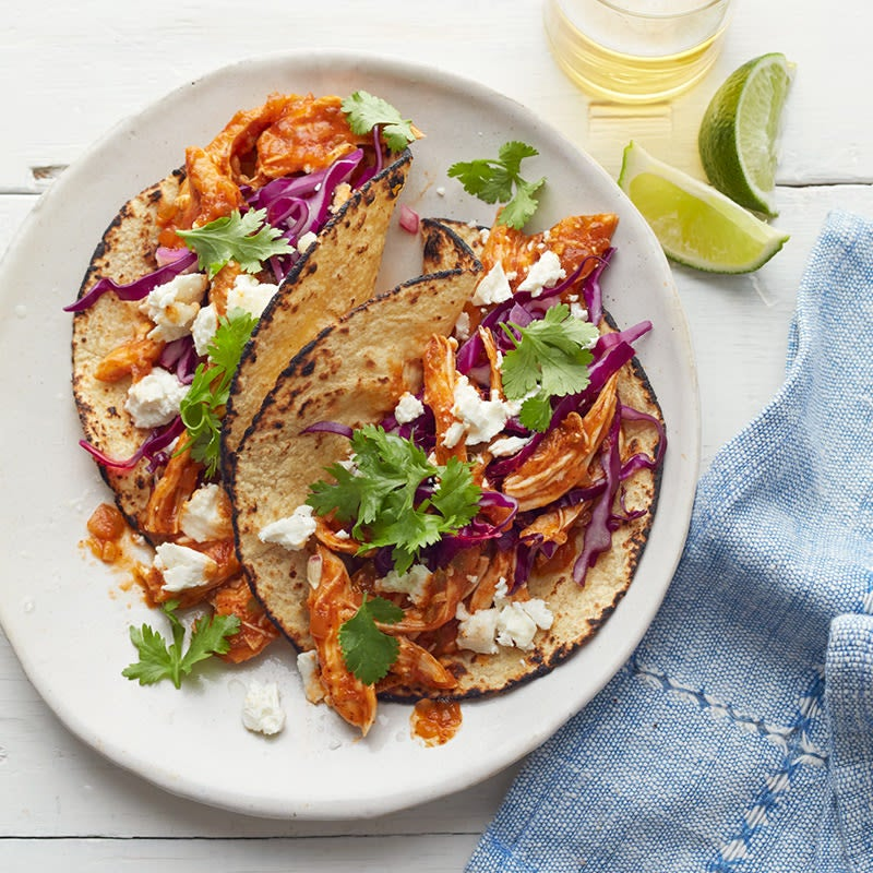 Photo of Spicy chicken soft tacos with goat cheese by WW
