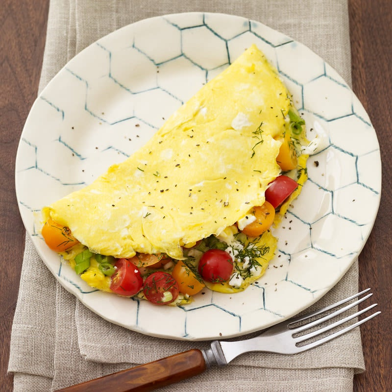 Photo de Omelette au féta, à l'aneth et aux tomates raisins par WW