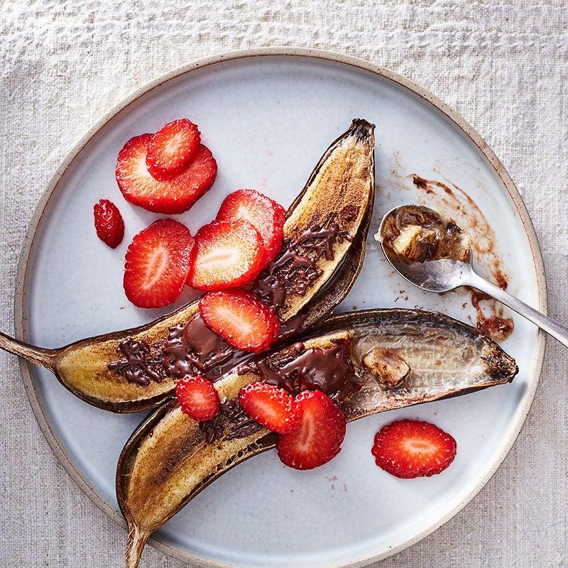 Photo de Bananes grillées avec cannelle et chocolat par WW