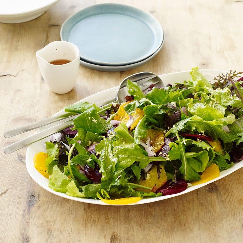 Photo de Salade de betteraves et d'oranges avec vinaigrette au sésame et au gingembre par WW