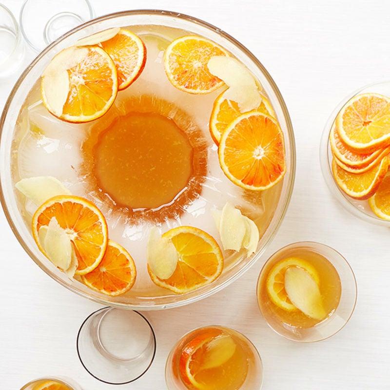Photo de Punch au gin à saveur de thé, d'agrumes et de gingembre par WW